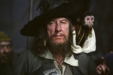 Geoffrey Rush Capt Barbossa Photo Credit Ausfilm